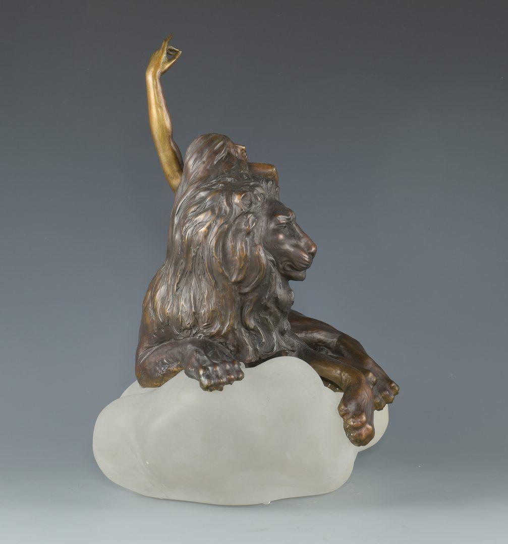 Lot 386: Russian Misha Frid Bronze Nude w/ Lion