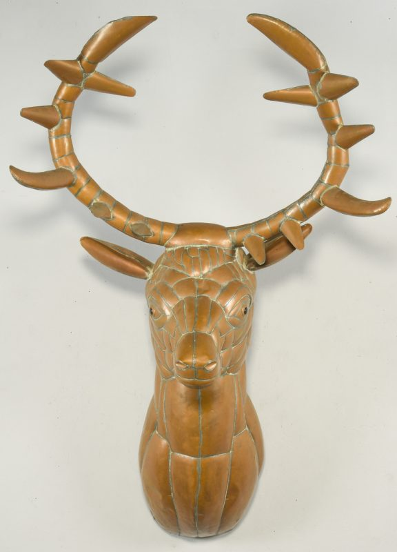 Lot 388: Sergio Bustamante Copper Elk Sculpture