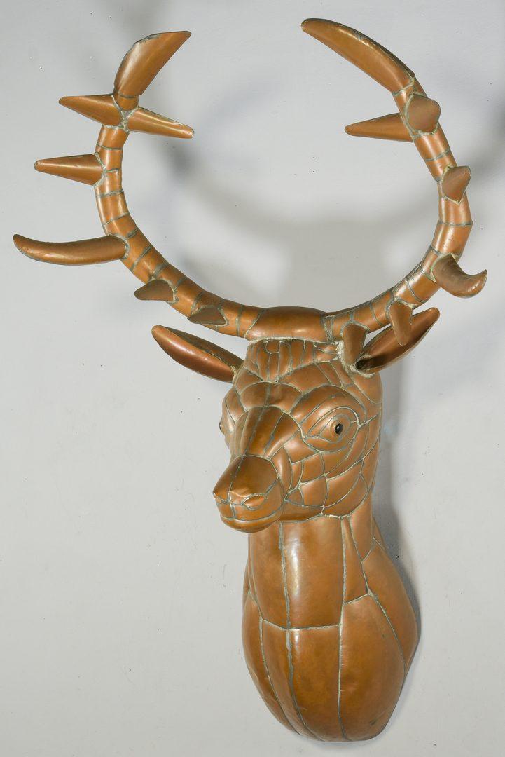 Lot 388: Sergio Bustamante Copper Elk Sculpture