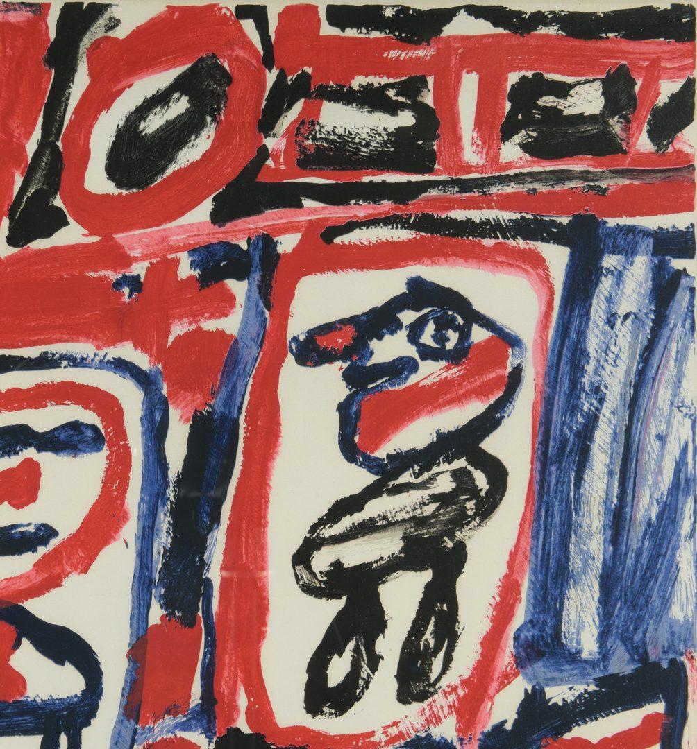 Lot 398: Dubuffet lithograph Site Avec Cinq Personnages