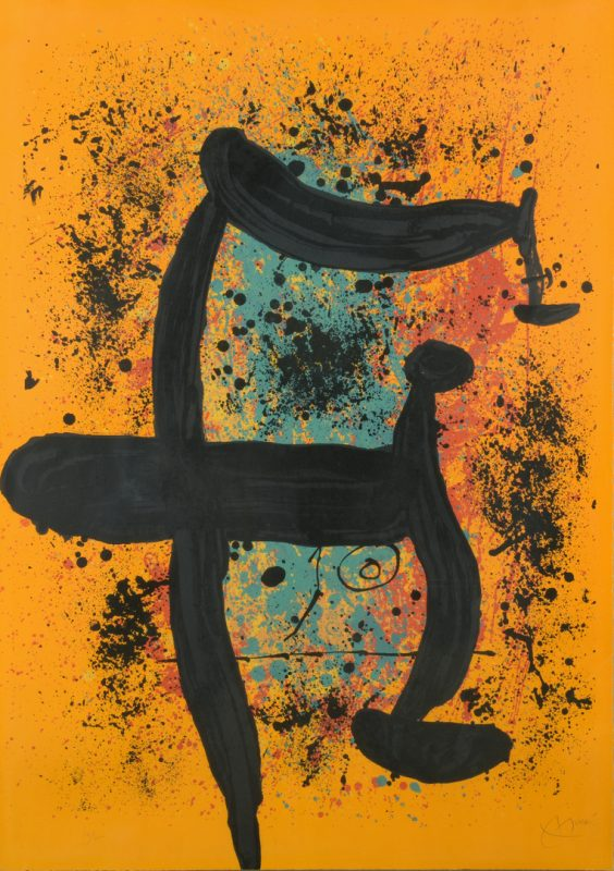 Lot 399: Joan Miro lithograph, 74/75, Le Verdengeur d'Oranges