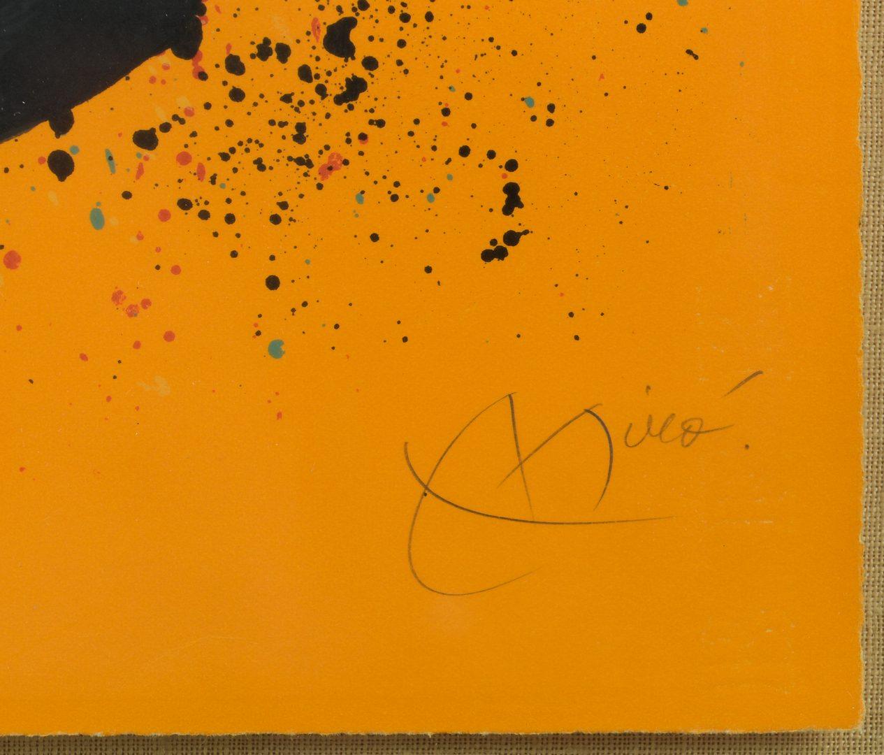 Lot 399: Joan Miro lithograph, 74/75, Le Verdengeur d'Oranges