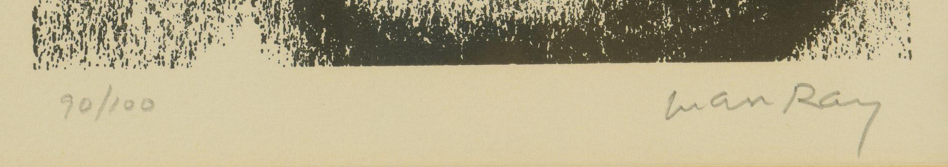 Lot 401: Man Ray Screen Print, Self Portrait