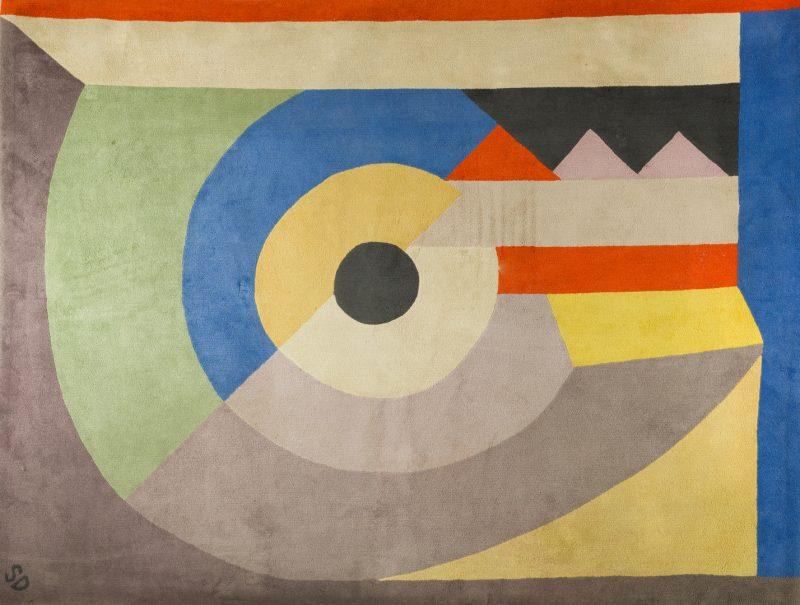 "Lot 402: Sonia Delaunay carpet, ""Pierrot Lunaire"" 52/100"