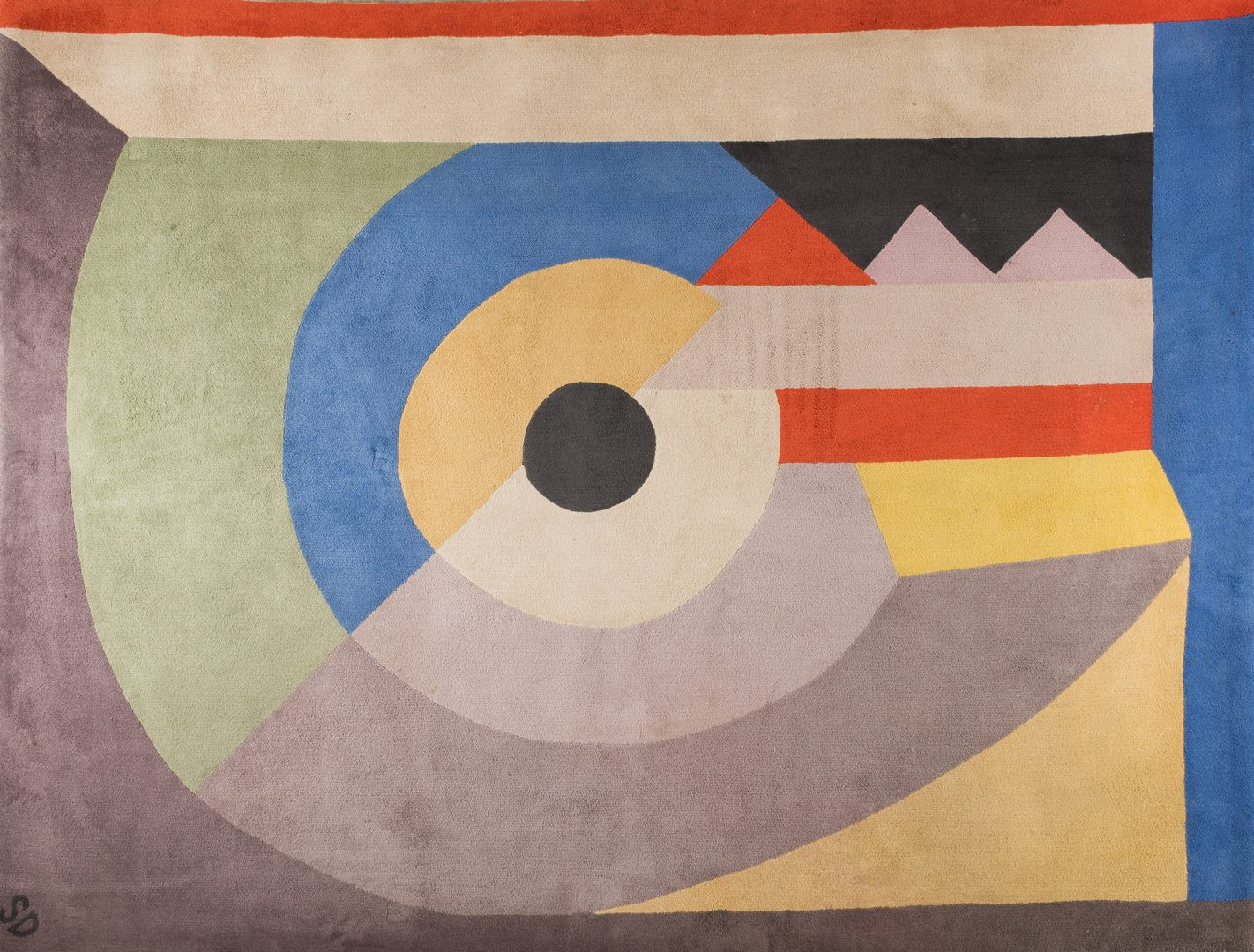 "Lot 402: Sonia Delaunay carpet, ""Pierrot Lunaire"" 52/100"