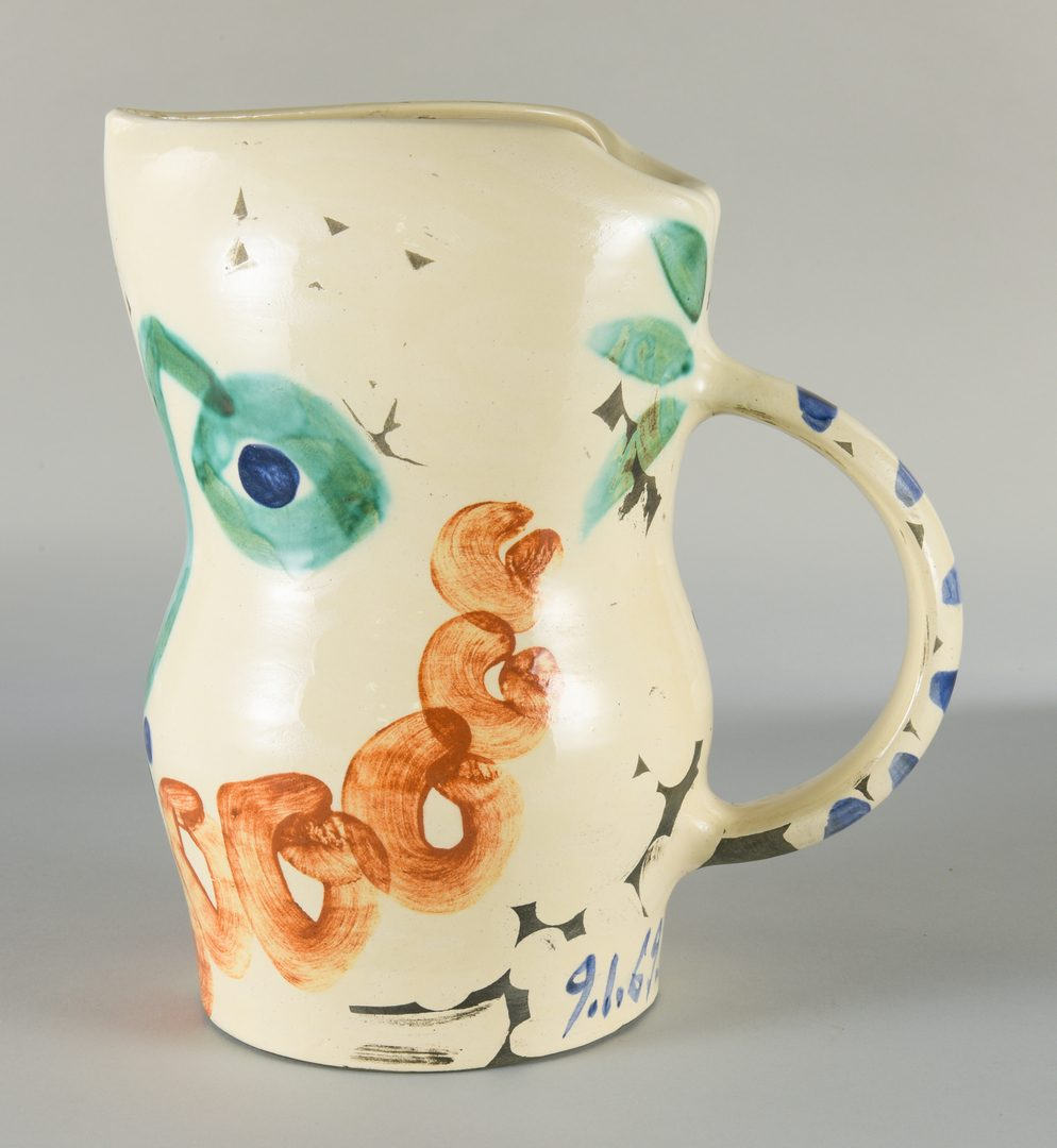 """Lot 404: Picasso Ceramic Vessel """"Visage Aux Cercles"""""""