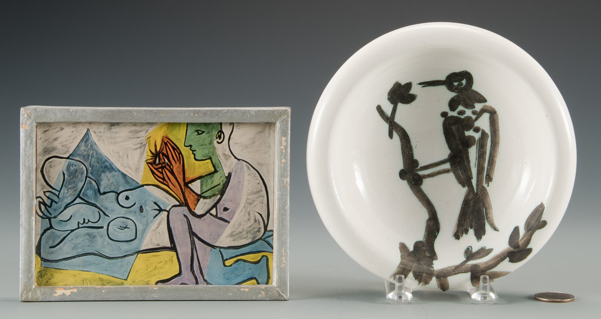 Lot 406: Picasso Ceramic Dish and Print