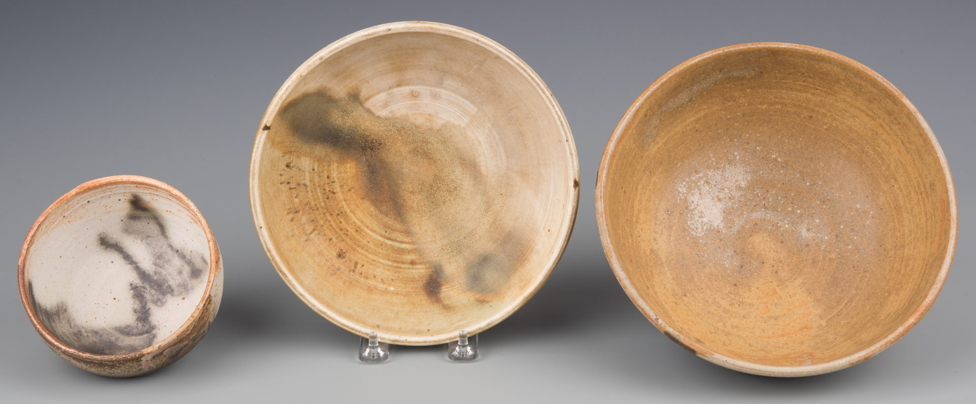 Lot 407: Toshiko Takaezu, 3 Small Pottery Vessels