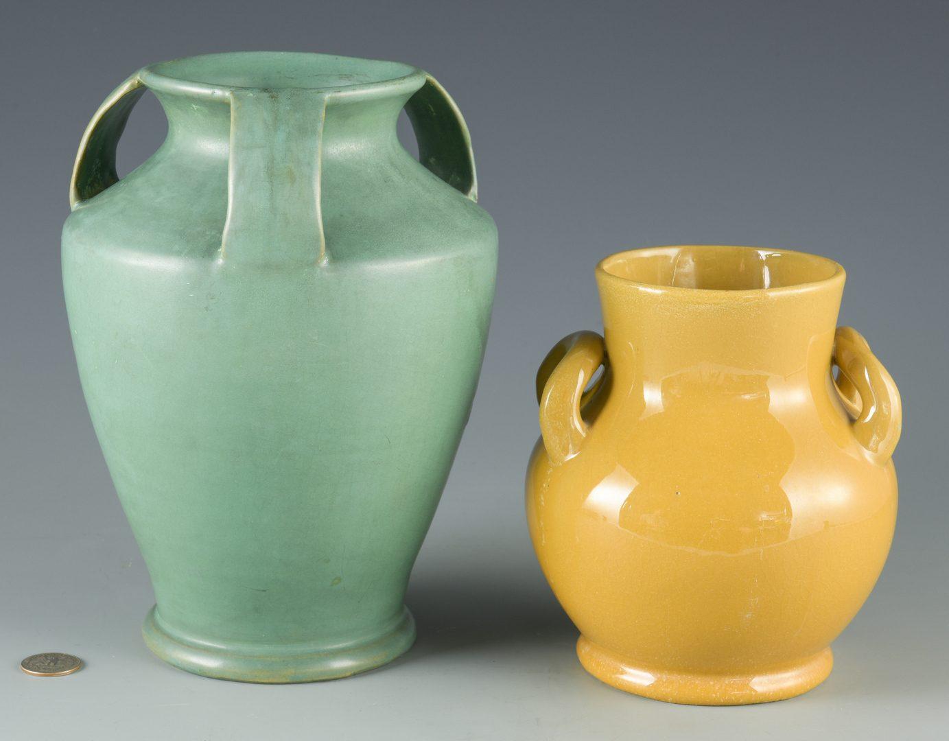 Lot 410: 2 Bybee/Waco Art Pottery Vases