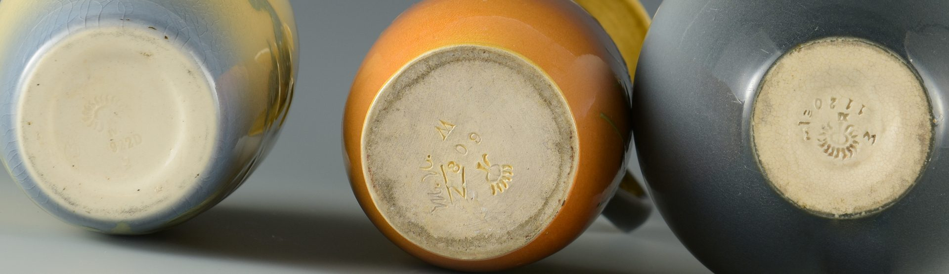 Lot 411: 3 Items Rookwood Pottery w/ Floral Designs