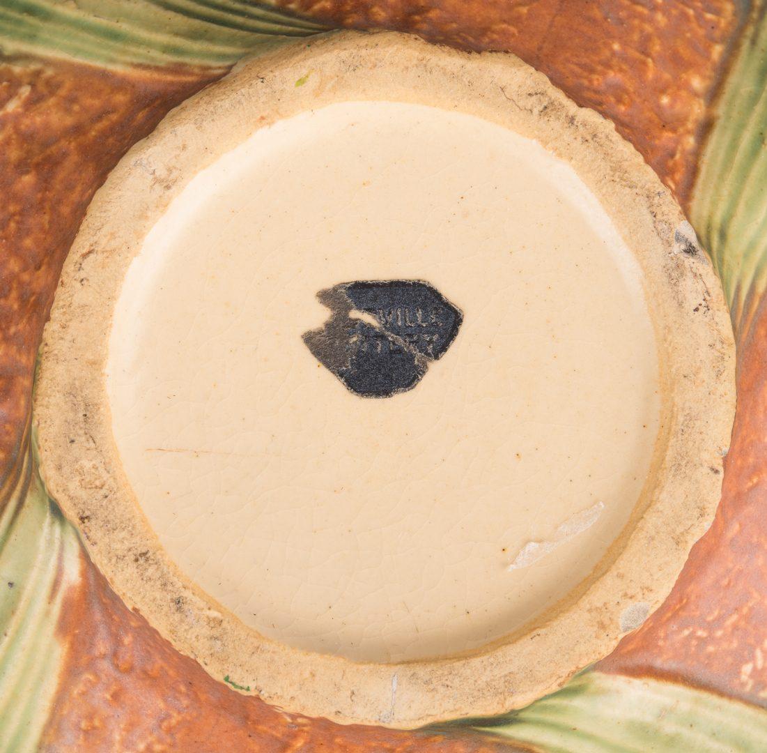 Lot 412: 9 pcs Early Roseville Pottery