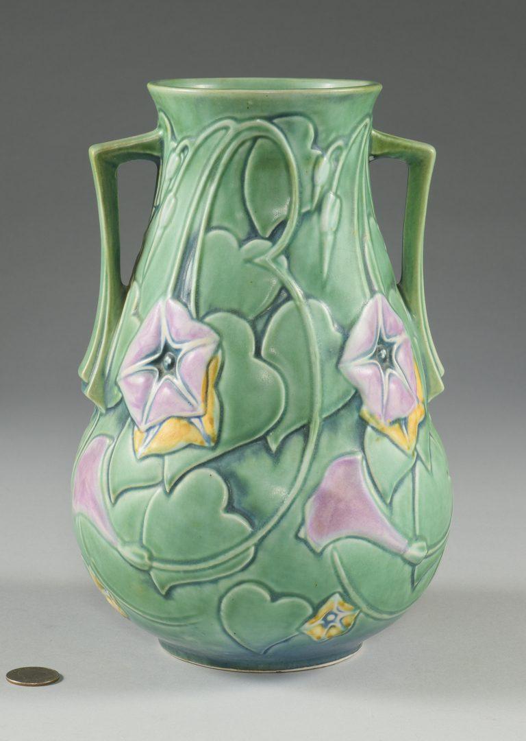 Lot 413: Roseville Morning Glory Vase