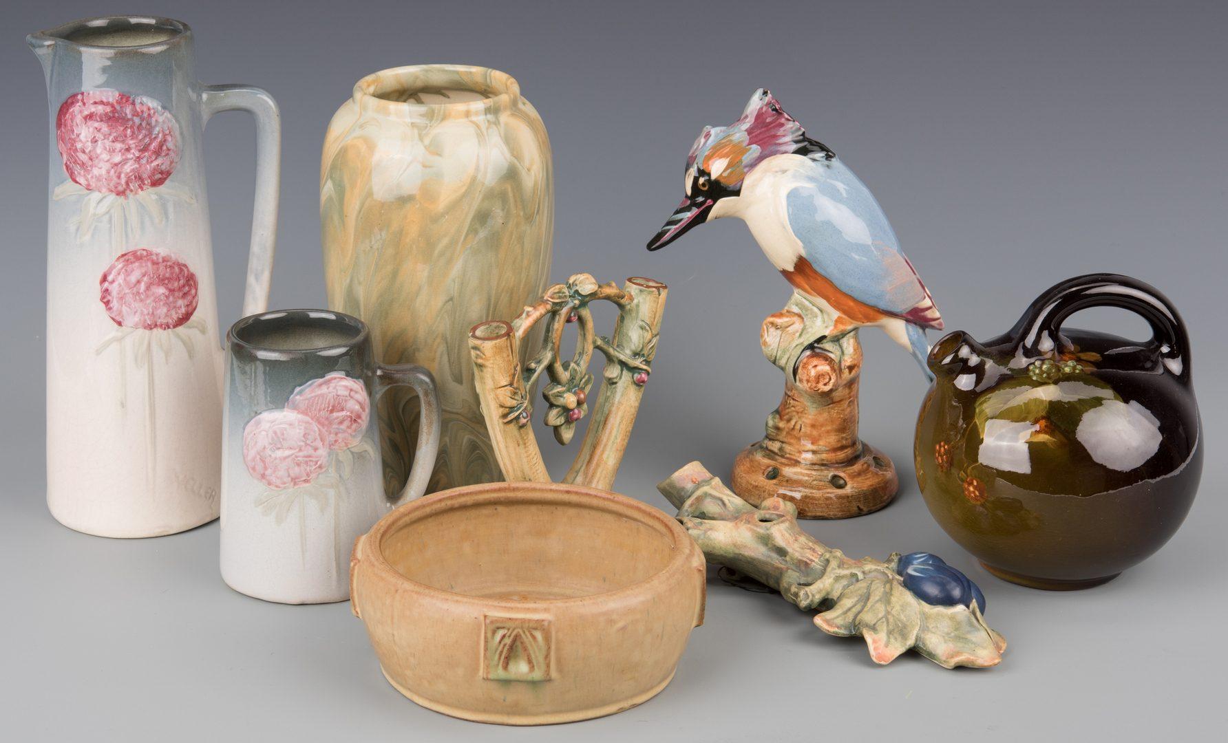 Lot 414: 8 pcs Weller Pottery