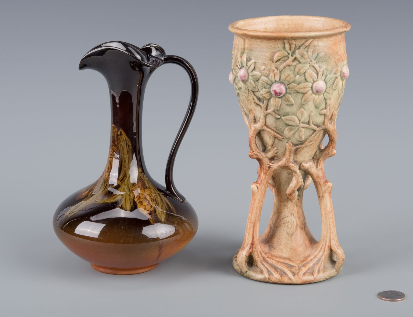 Lot 415: Weller Chalice & Rookwood Ewer Pottery