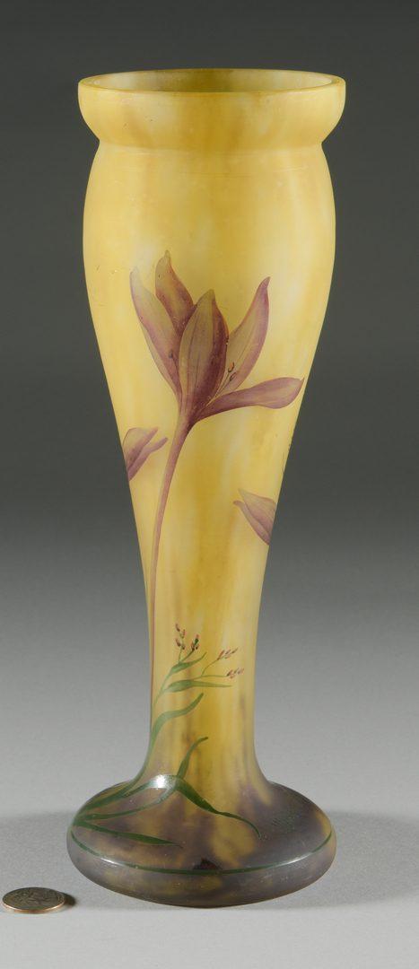 Lot 417: French Art Nouveau Glass Vase