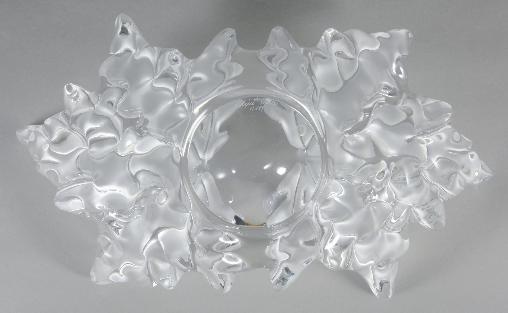 "Lot 419: Lalique ""Champs Elysee"" Crystal Center Bowl"