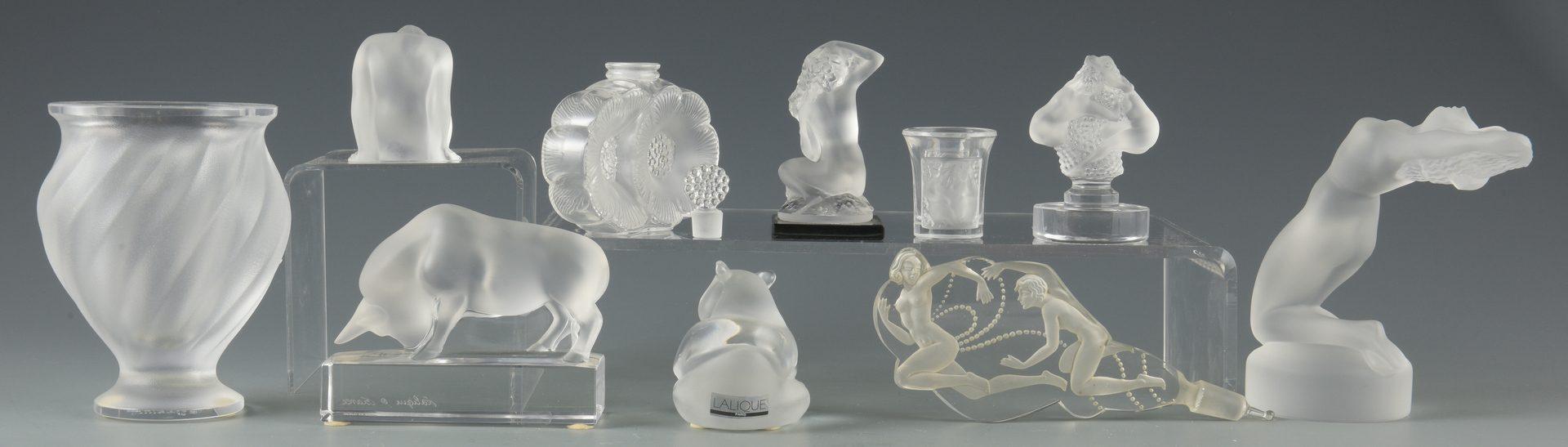 Lot 420: Group of Lalique Glassware, 10 pcs