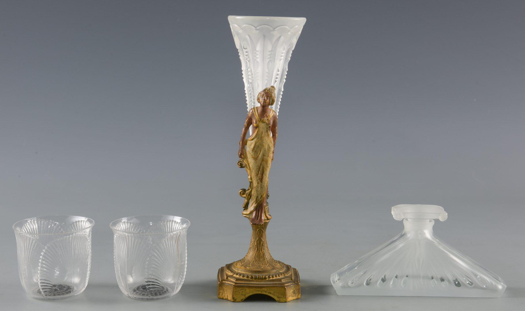 Lot 421: Lalique & Brosse Glassware, 11 pcs