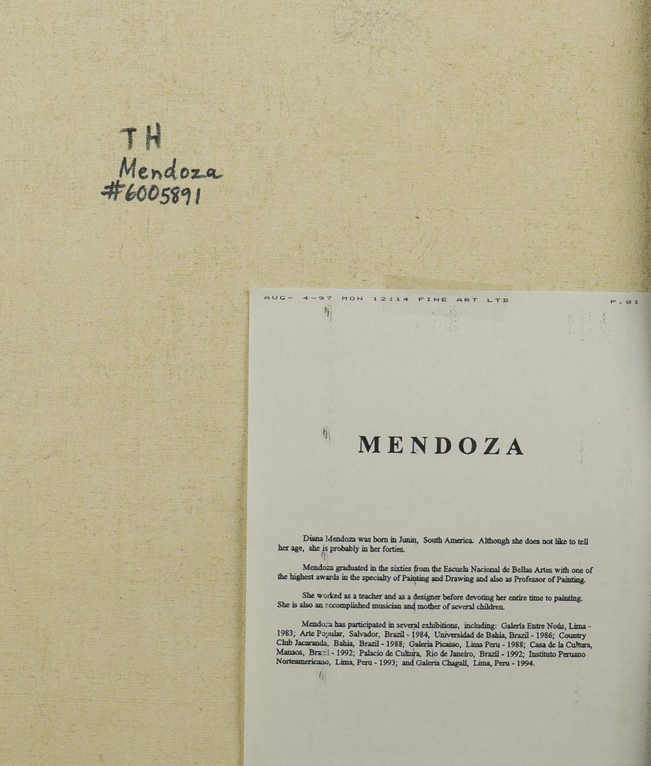 Lot 424: Diana Mendoza, O/C, Gentleman w/ Dog