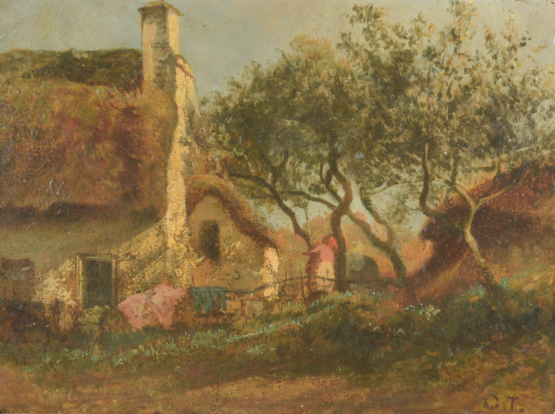 Lot 427: Constant Troyon, O/B, Farm Scene