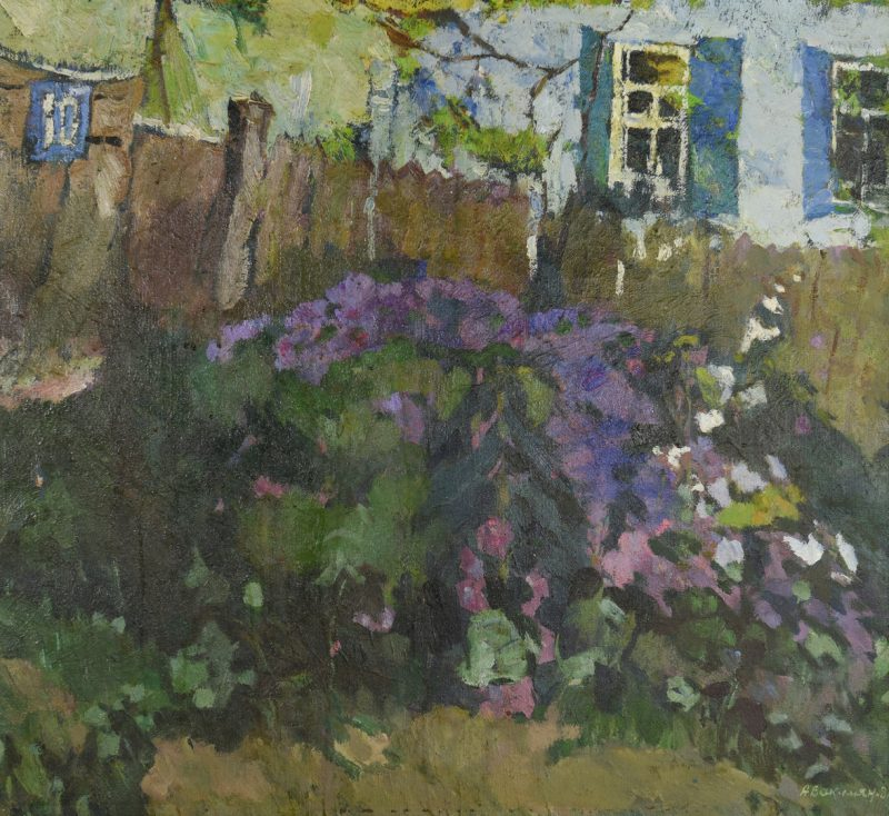 Lot 431: Oleg Avakimjan, Oil on Linen, The Farmhouse