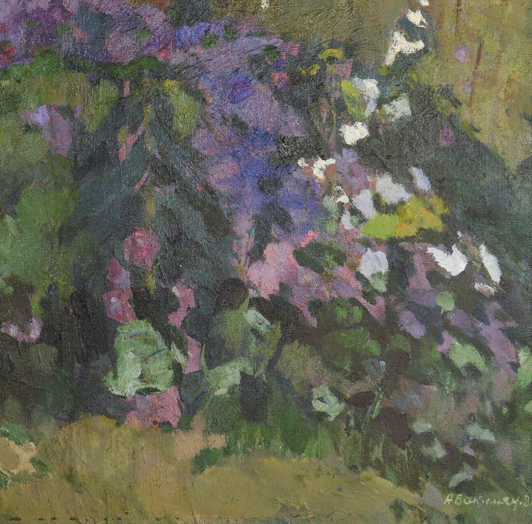 Lot 431: Oleg Avakimjan, Oil on Linen, The Farmhouse