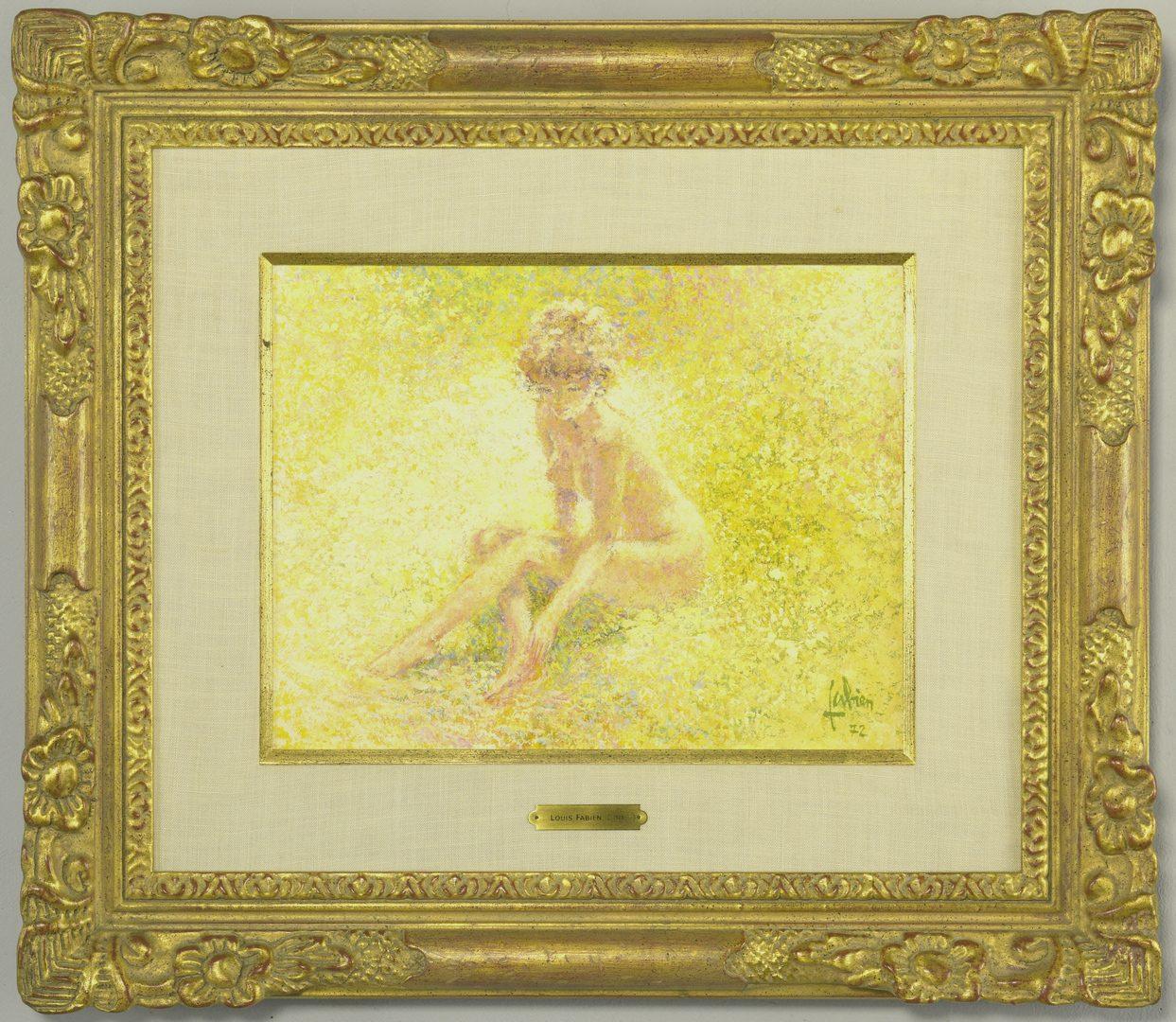Lot 433: Louis Fabien Oil on Canvas Nude