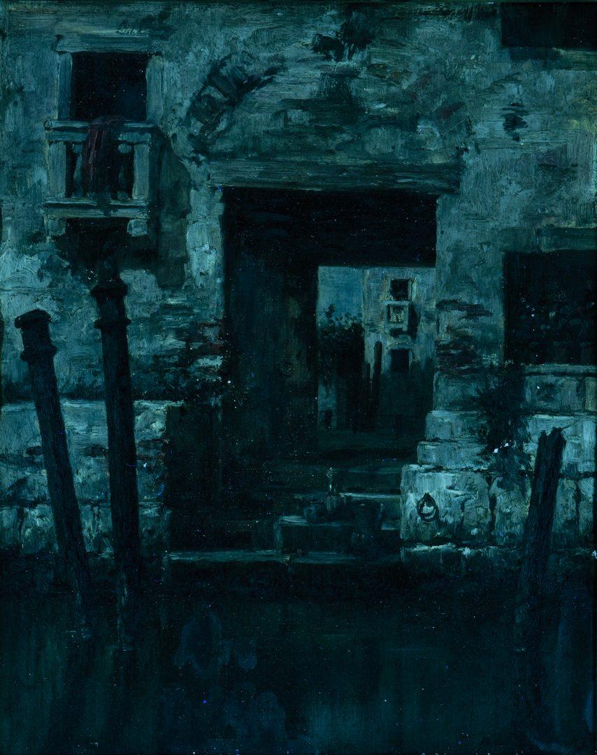 Lot 438: Burr Nicholls O/C, Venetian Doorway