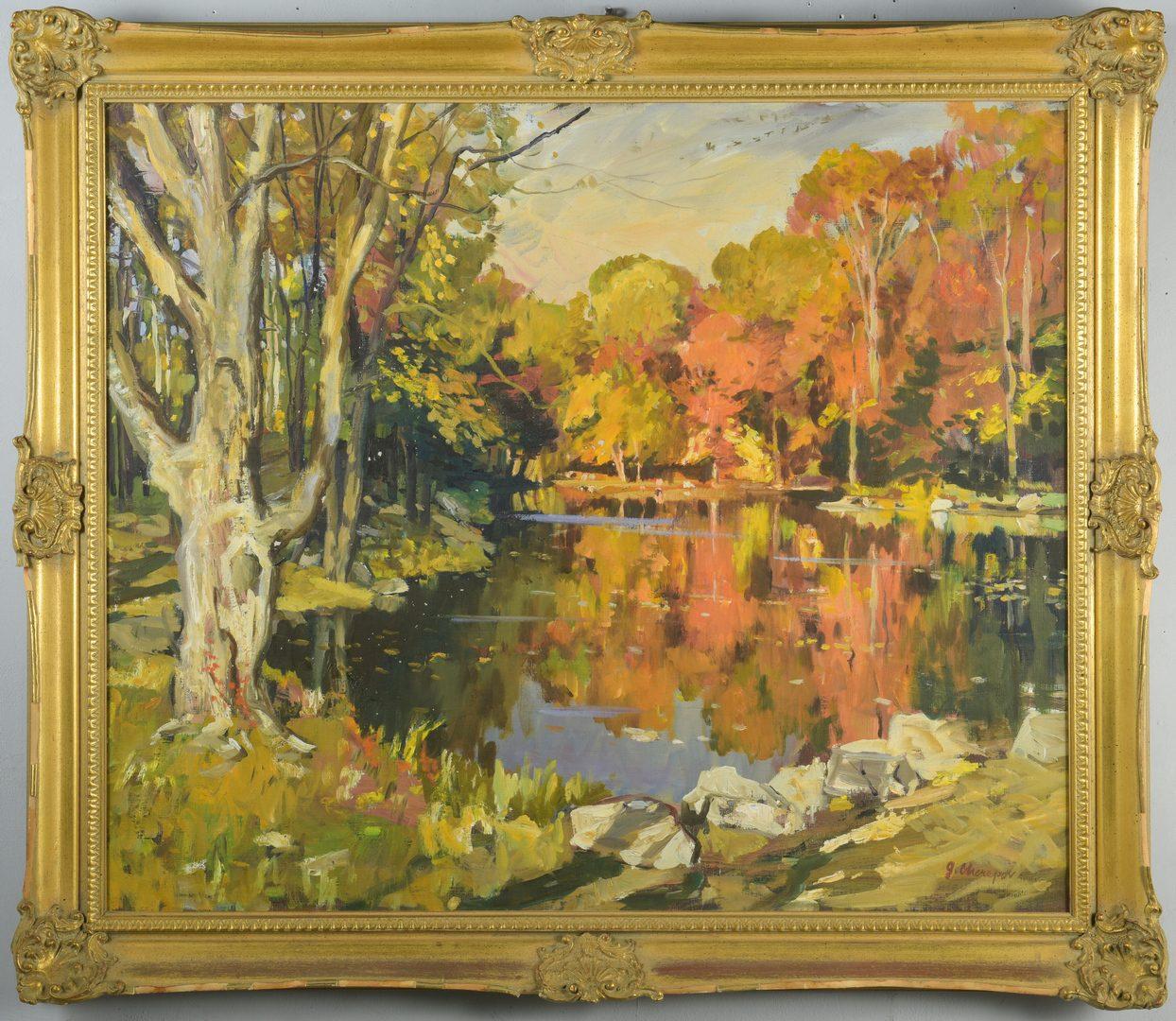 Lot 440: G. Cherepov Autumn Landscape