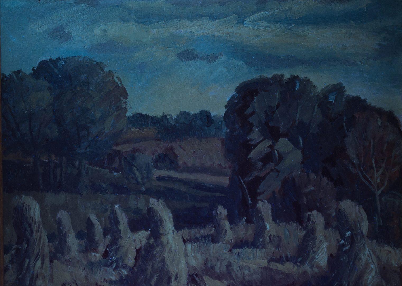 Lot 442: Edward Carlson Landscape w/ Haystacks