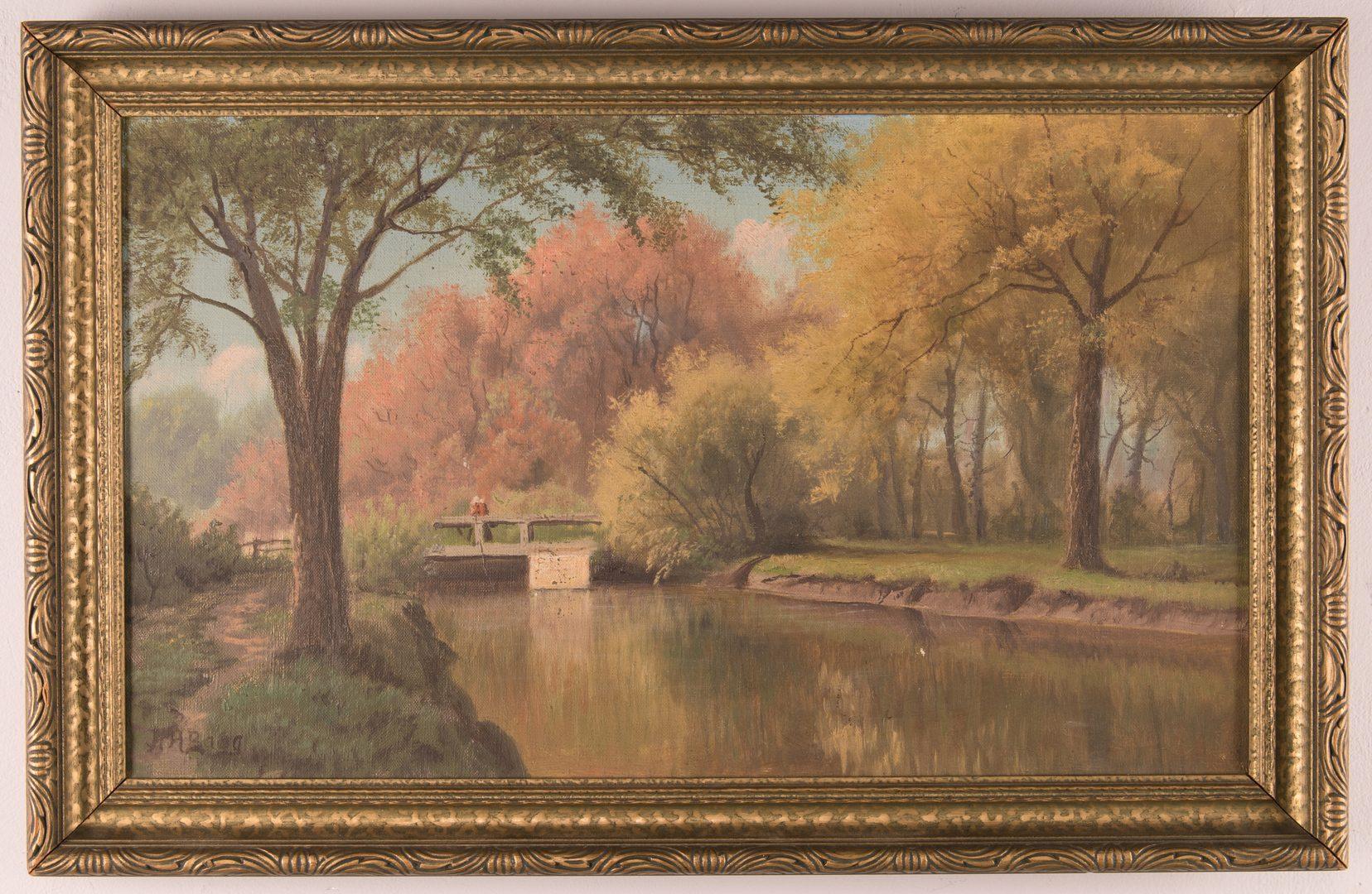 Lot 444: Pair landscape oils, H.H. Bagg