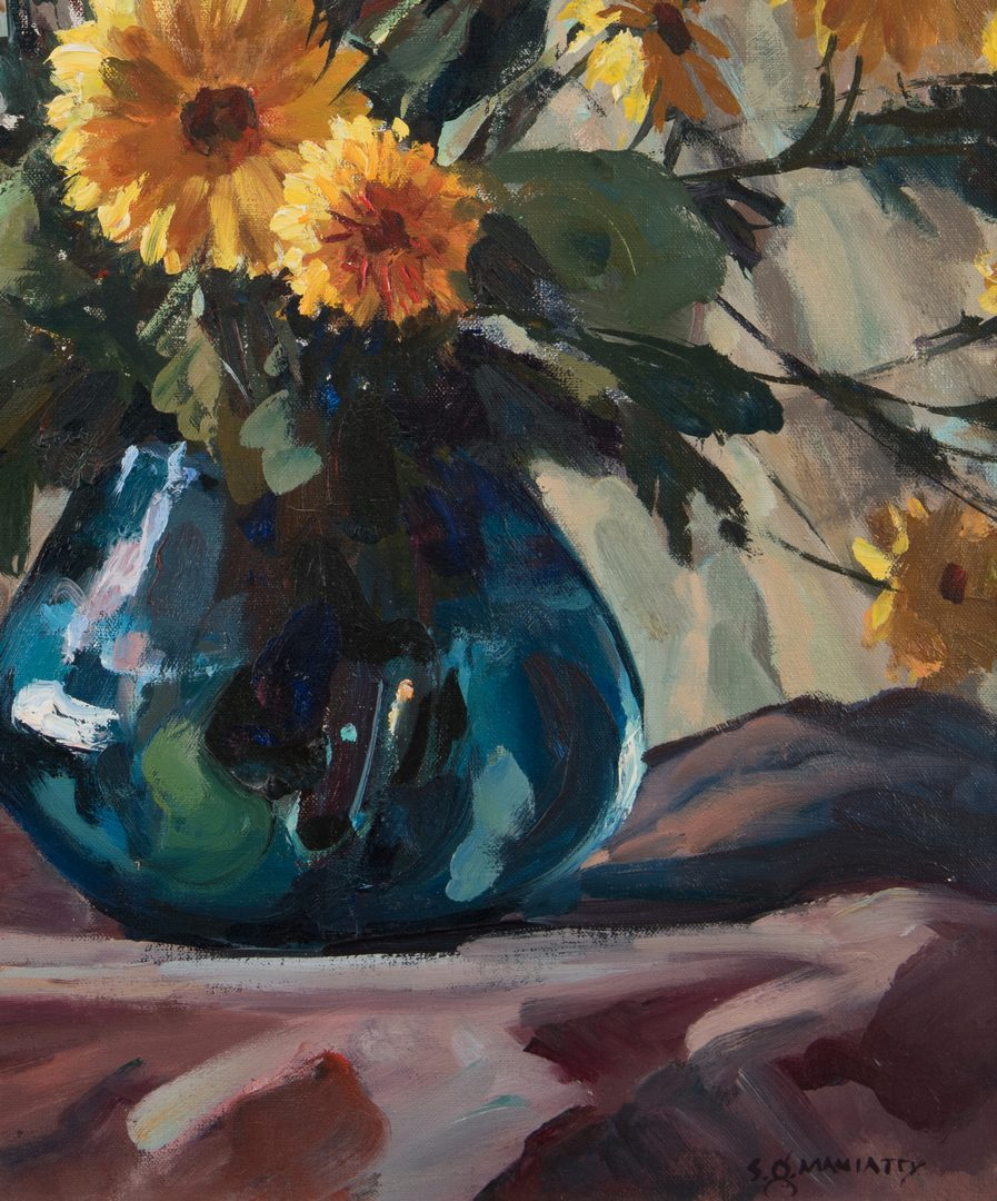 Lot 447: Stephen Maniatty, O/C, Still Life