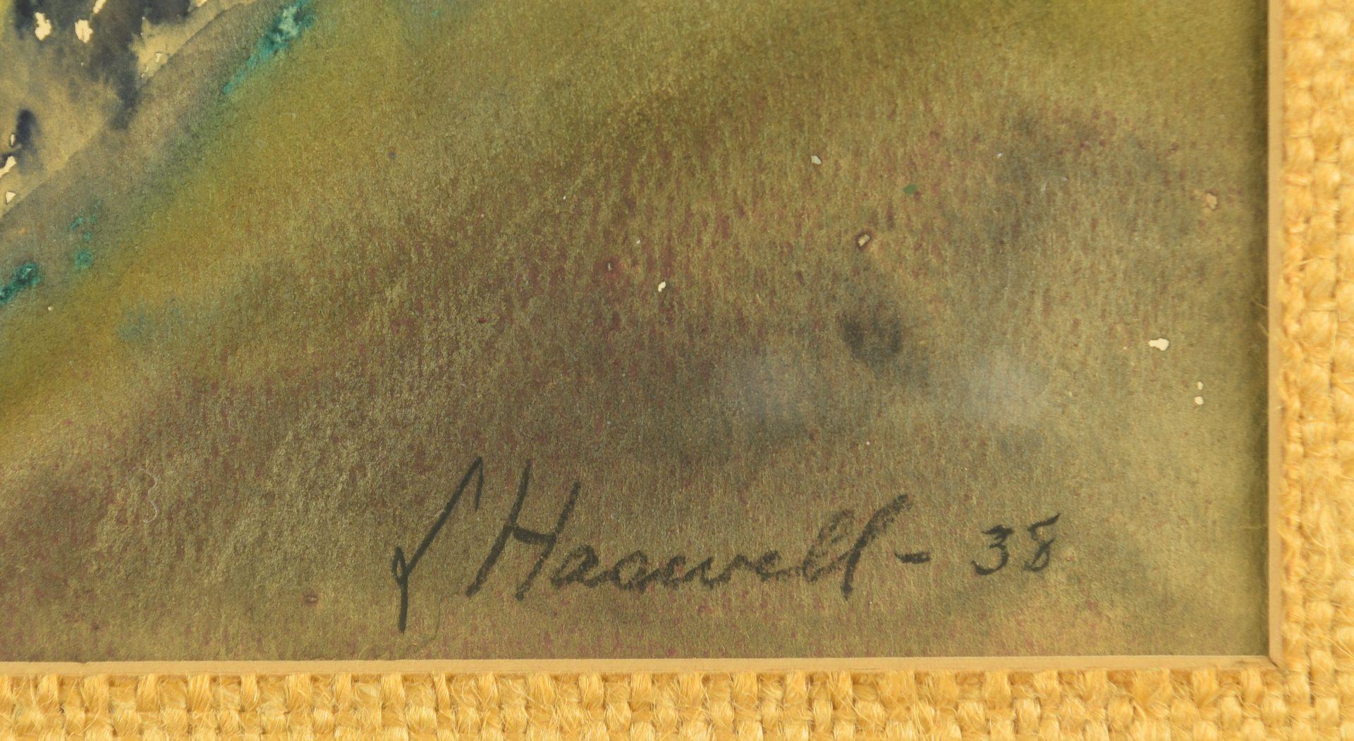 Lot 450: Leona H. Haswell Watercolor of Smokies