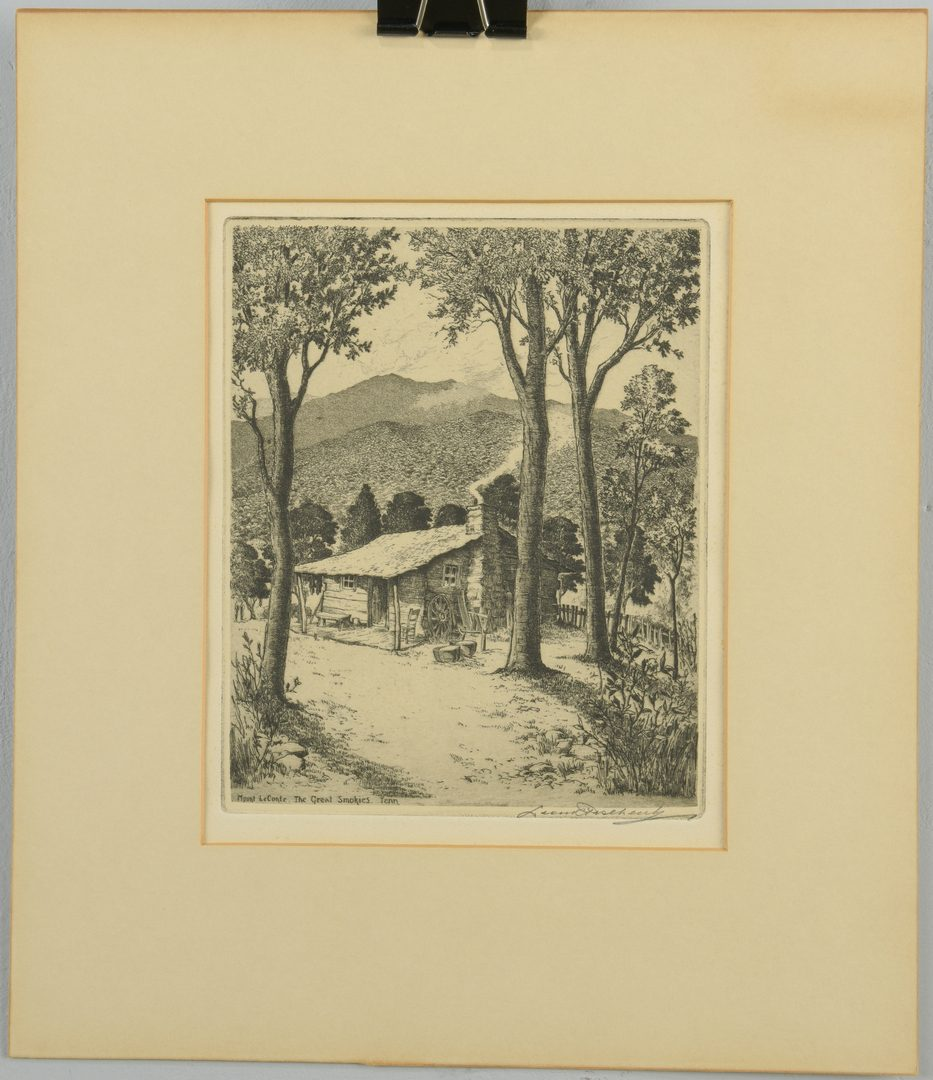 Lot 454: 6 Smoky Mtn. Etchings: Cady, Pescheret, and Wray