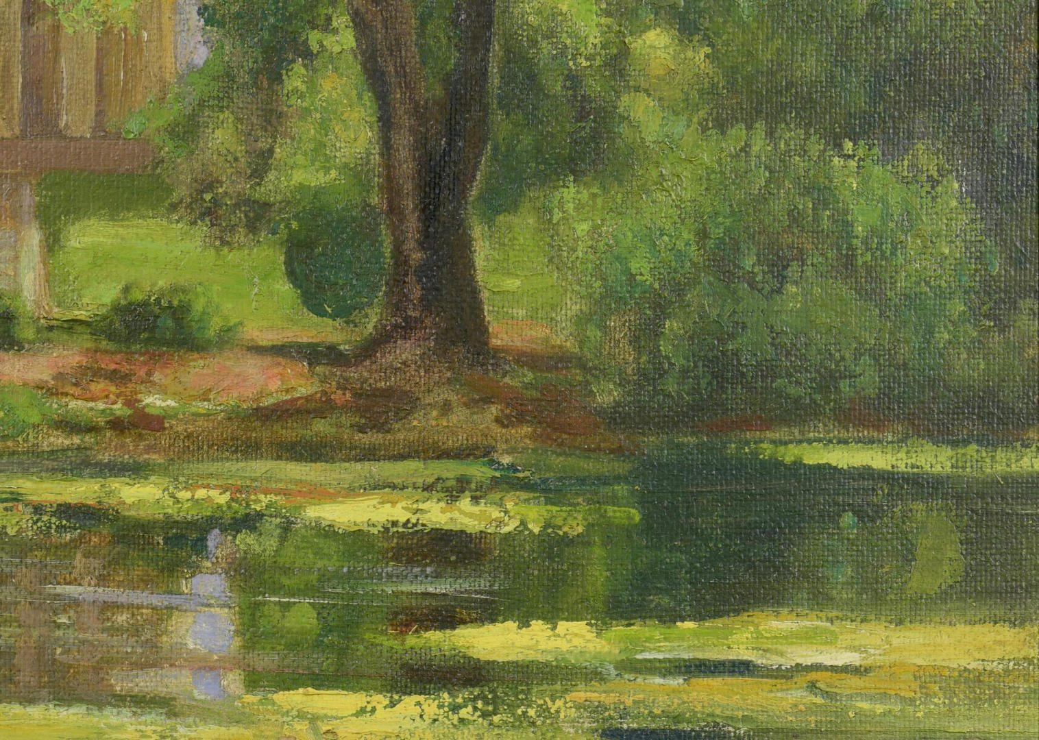 Lot 456: Cornelius Hankins Oil on Board Landscape