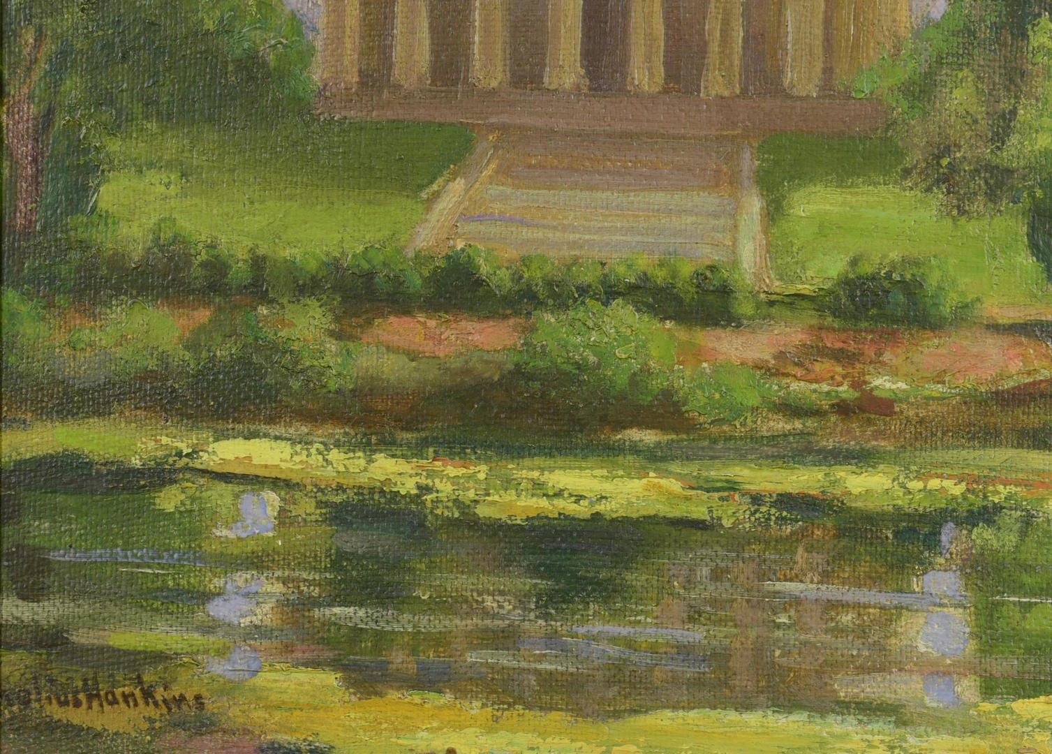 Lot 456: Cornelius Hankins Oil on Board Landscape