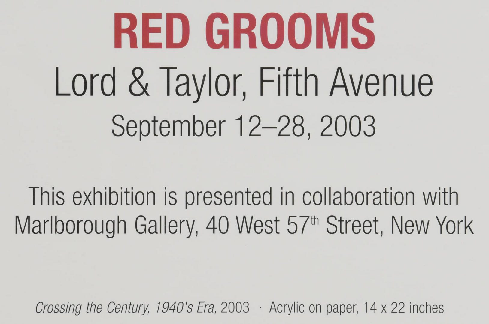 Lot 458: 3 Red Grooms Signed Posters plus Books