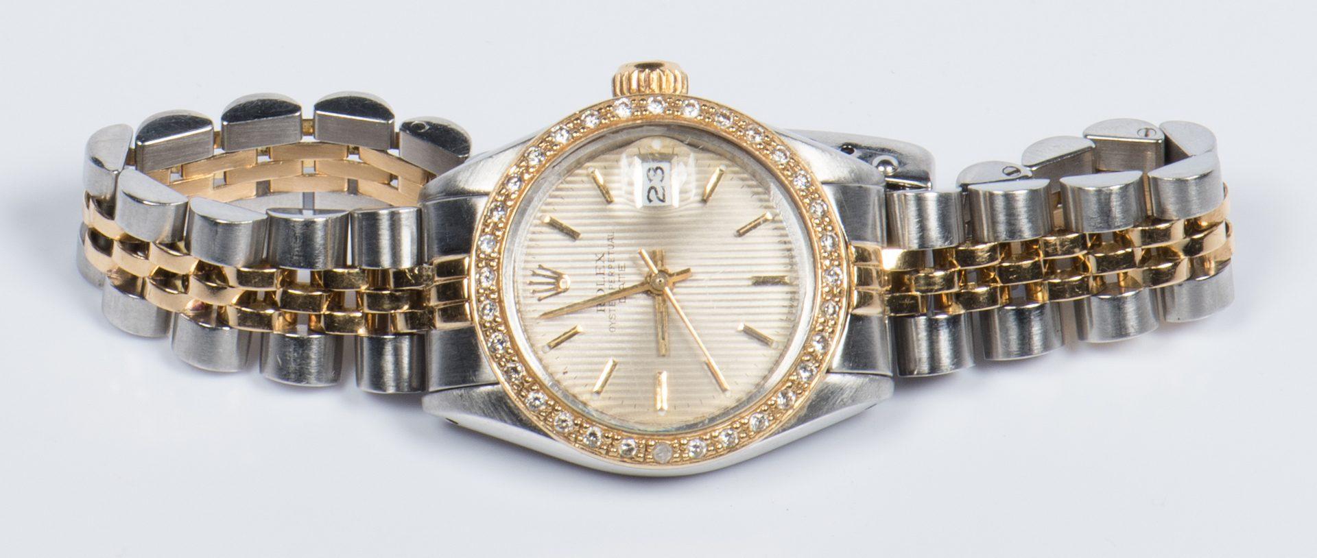 Lot 45: Ladies Rolex w/ Diamond Bezel