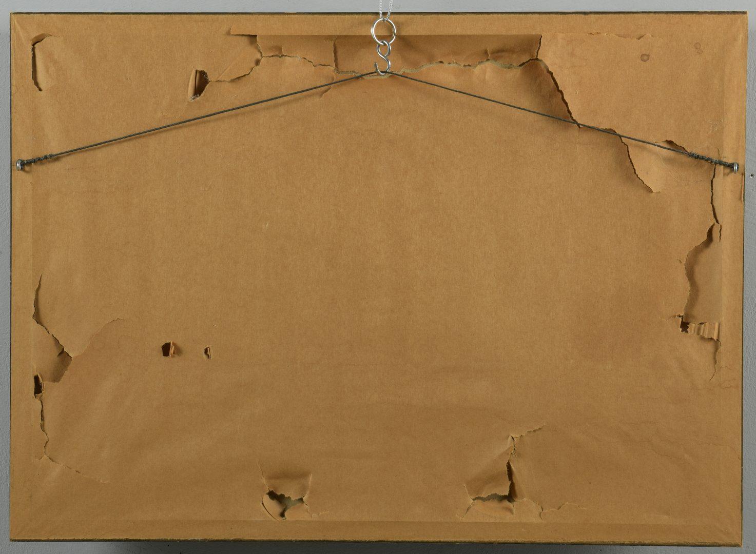 """Lot 461: Carl Sublett Watercolor, """"Window"""""""