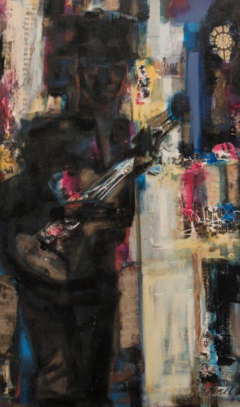 Lot 463: Robert Birdwell, O/C, Guitar Player