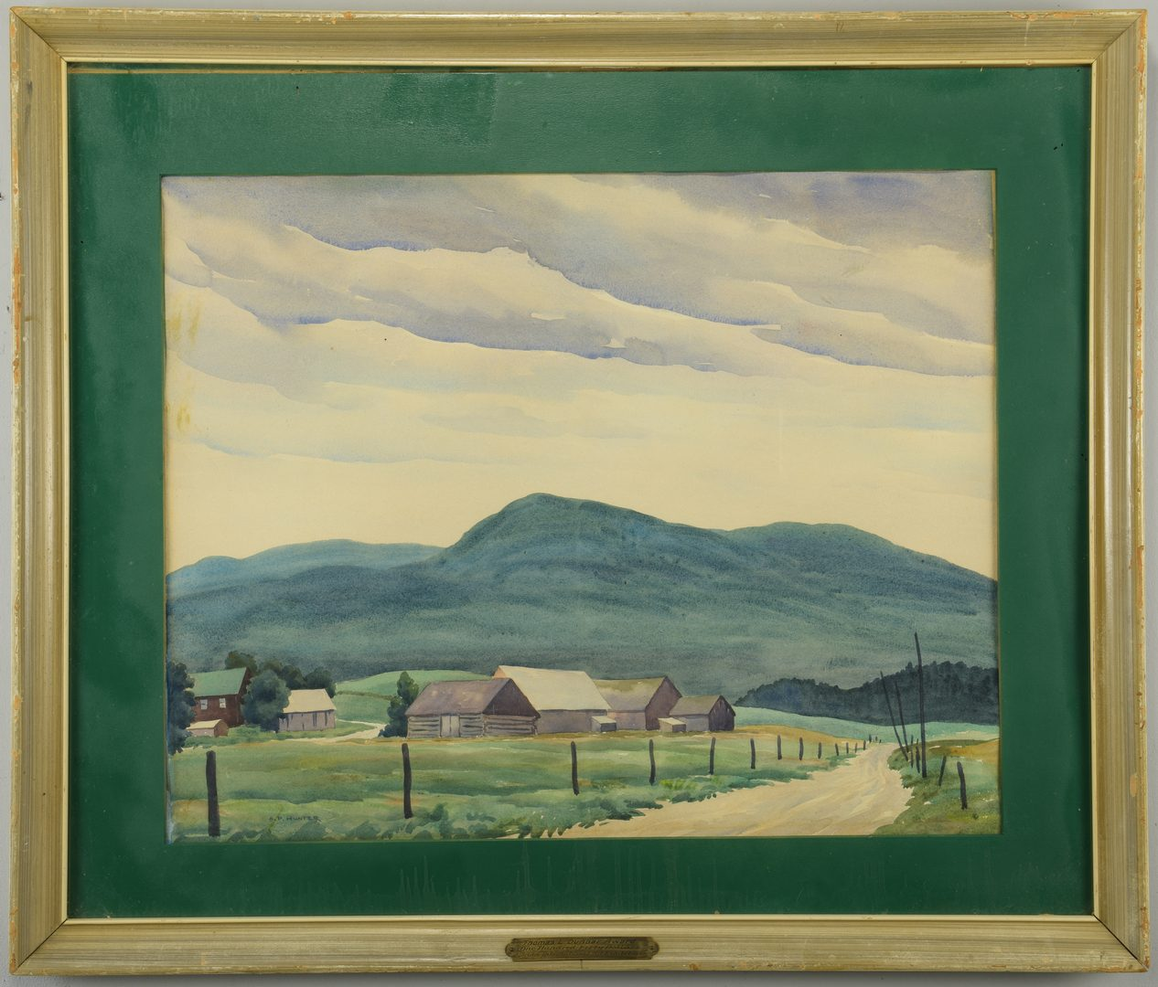 Lot 467: A.P. Hunter  Mountain Landscape