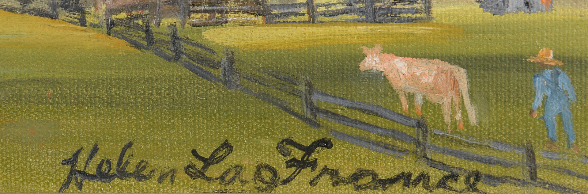 Lot 470: Helen LaFrance o/c, Farm Scene