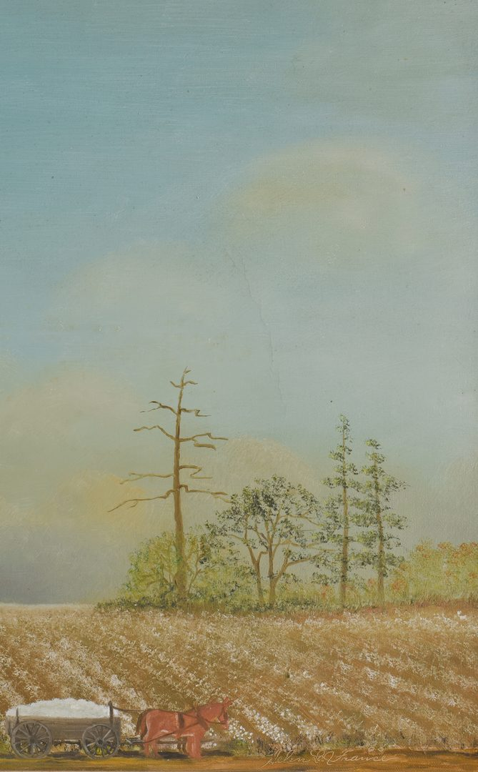 Lot 471: Helen LaFrance, O/C, Cotton Field