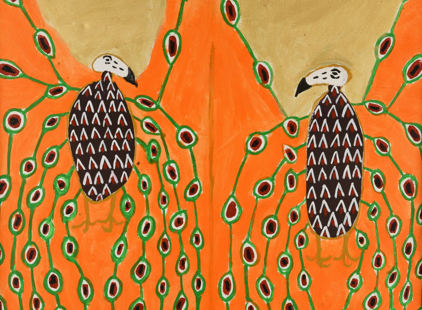 Lot 472: Benjamin F. Perkins, O/C, Cherokee Love Birds
