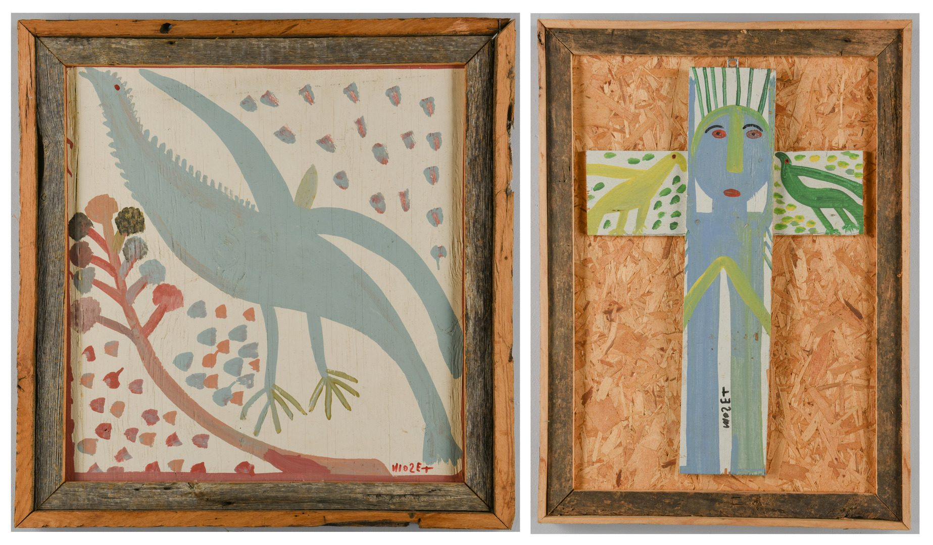 Lot 475: 2 Mose Tolliver Folk Art Paintings