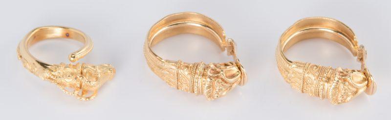Lot 47: Set 22K Etruscan style Jewelry