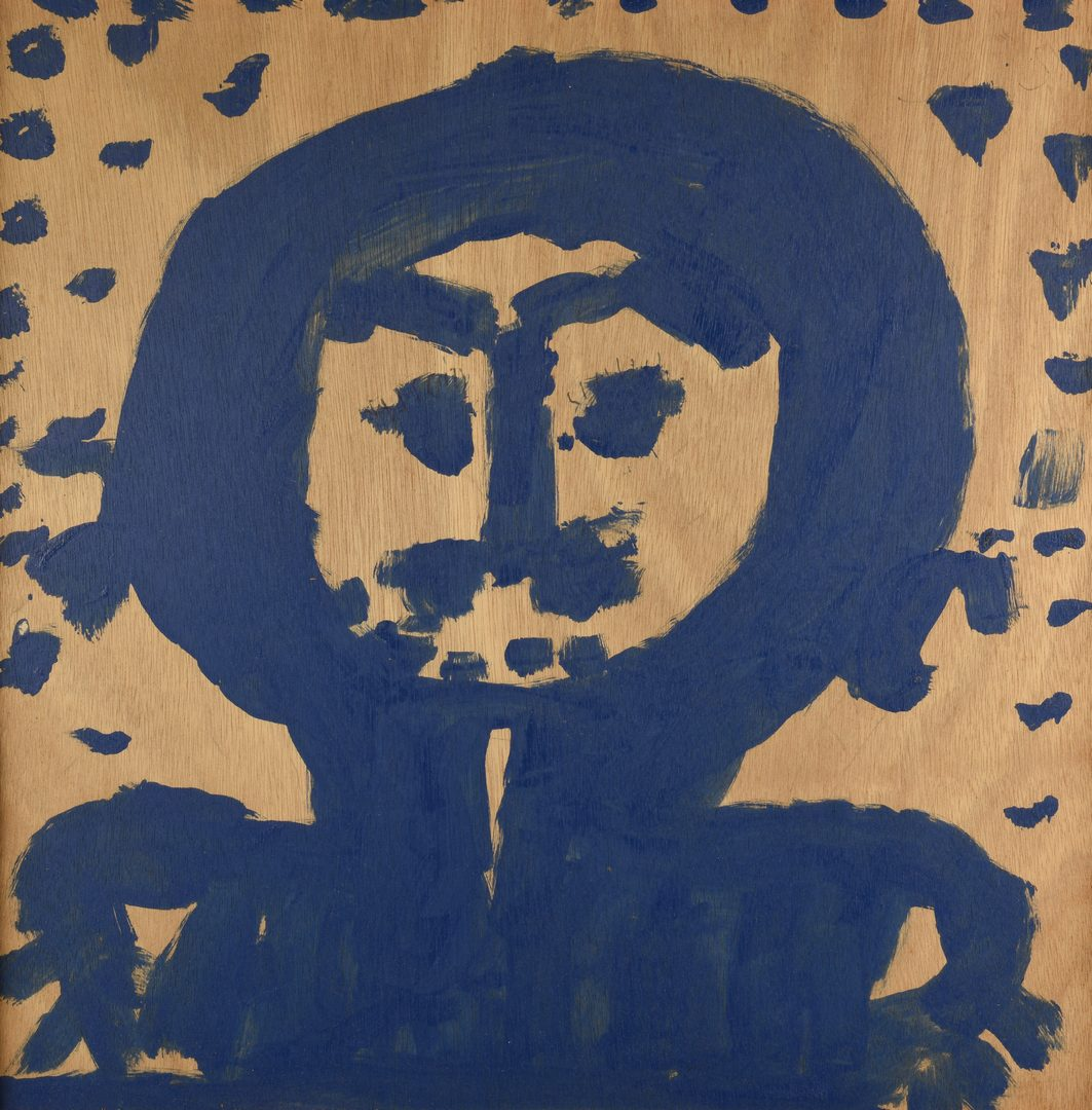 Lot 480: Mary Tillman Smith, Figure in Blue Painting