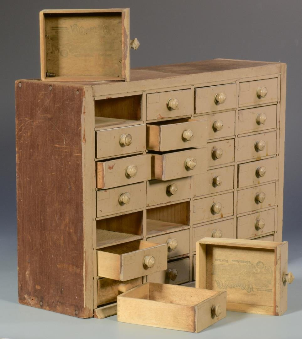 Lot 482: Apothecary Cabinet and Box