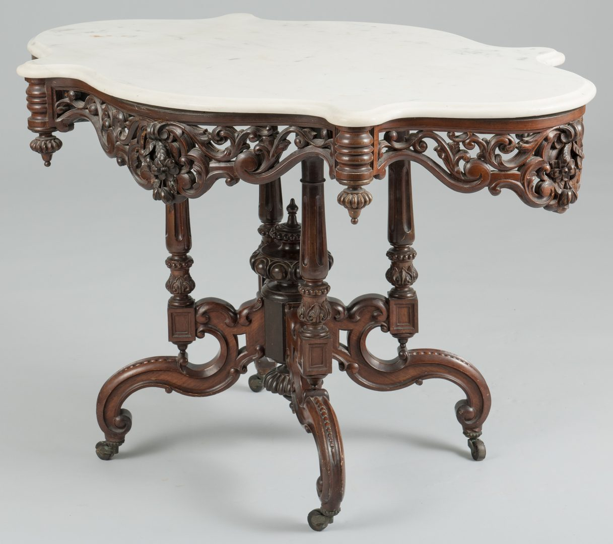 Lot 485: Marble Top Center Table att. Meeks