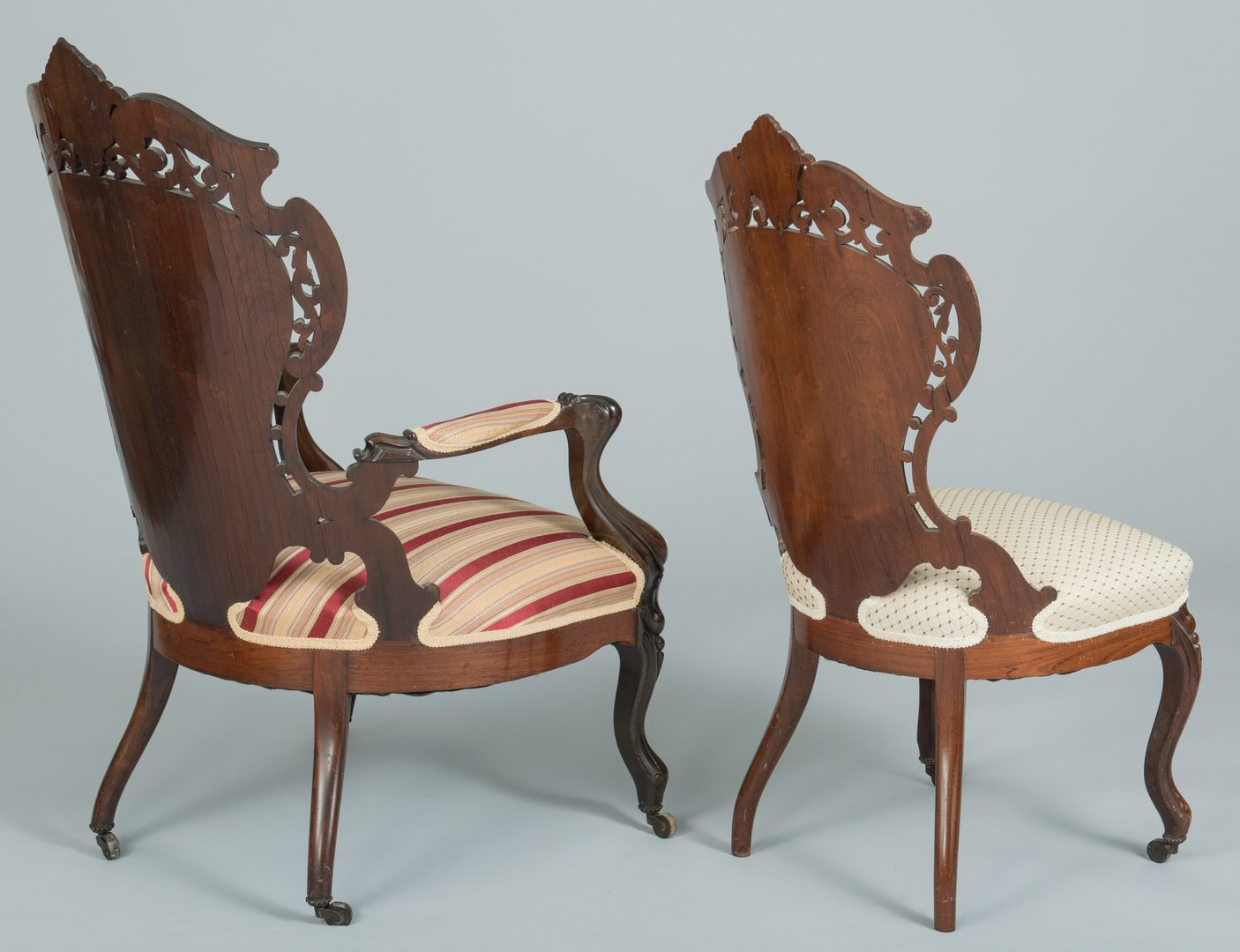 Lot 486: Meeks Rosewood Sofa and 2 Chairs